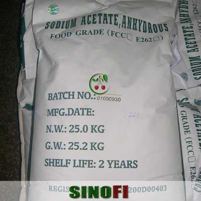 Sodium Acetate Anhydrous E262 03